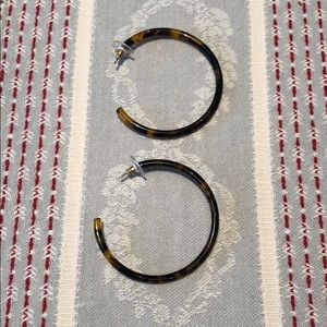 J. Crew Tortoise hoop earrings